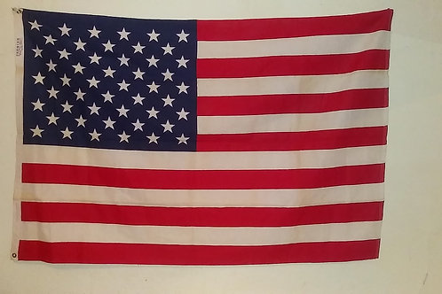Vintage American flag premier 100% bunting 50 star. Since 1847
