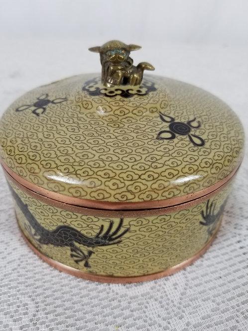 Cloisonne round case.