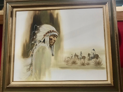 "Oil on Canvas ""Old Chief"""