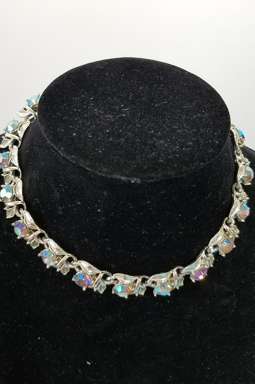 Vintage costume rhinestone necklace