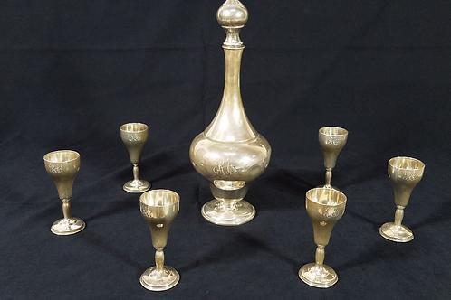 Vintage Sterling decanter set