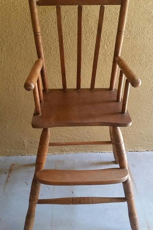 Solid Maple Wood High Chair