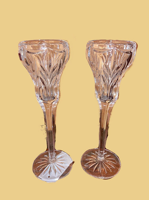 """""""Waterford"""" Set Candle Holders"""