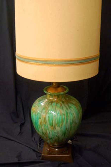 Mid Century Green Lamp