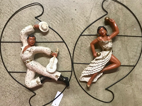 Mid century hanging dancers