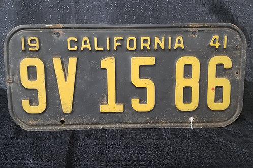 1941California License Plate