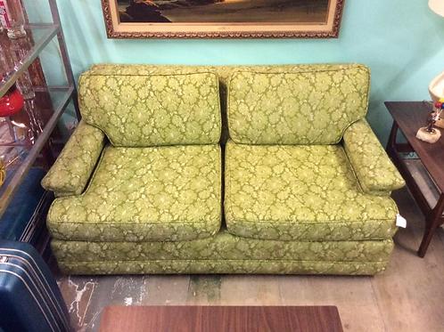 Vintage Green Floral Love Seat