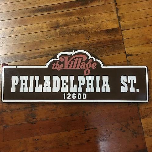 Vintage Philadelphia Street Sign from Uptown Whittier