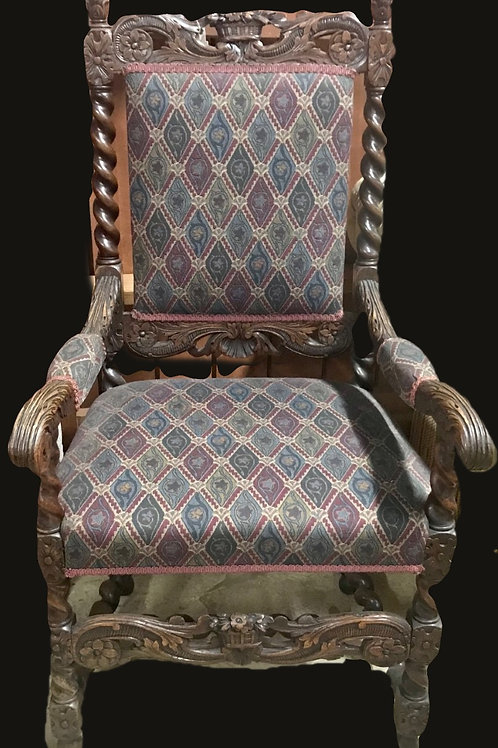 Victorian Carved Wood Chair