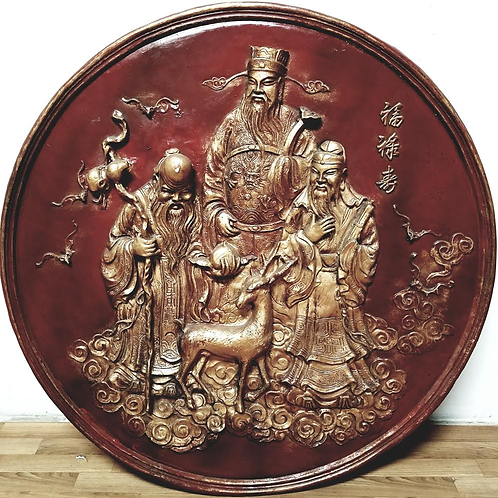 Large Chinese art in a plaque