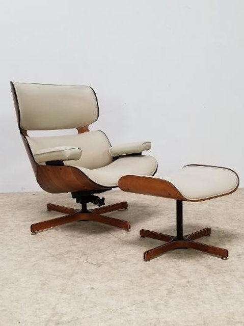 "Mid Century ""Mr. Chair"" Plycraft Eames style Lounge chair with ottoman"