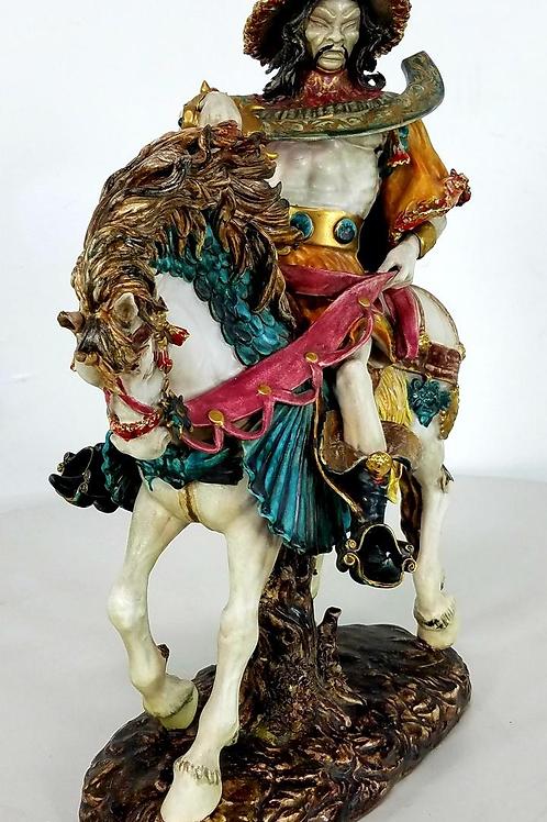 Gengis Khan Porcelain Statue