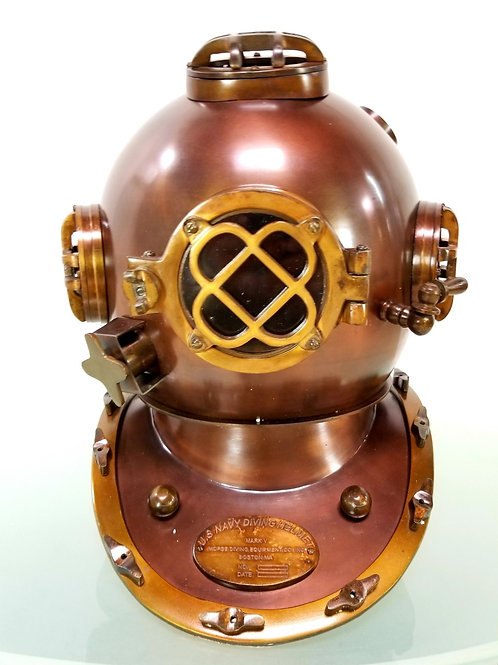Navy diver helmet  life size