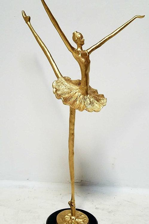 Vintage Wrought Iron Sculpture of Ballerina