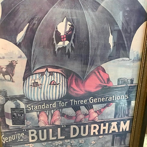 Bill Durham Framed Tobacco Poster
