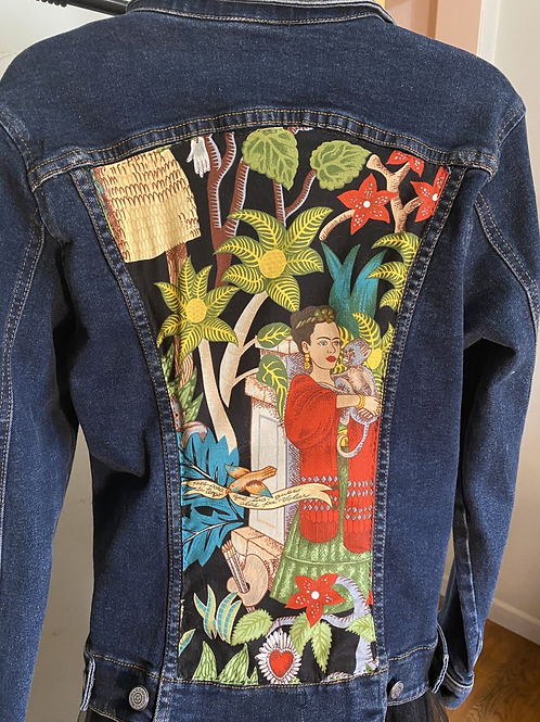 DENIM JACKET FRIDA KAHLO