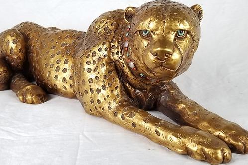 Vintage Leopard statue