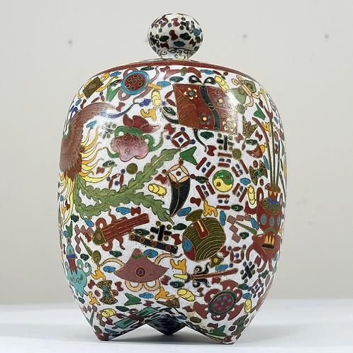 Antique Cloisonné Chinese Vase