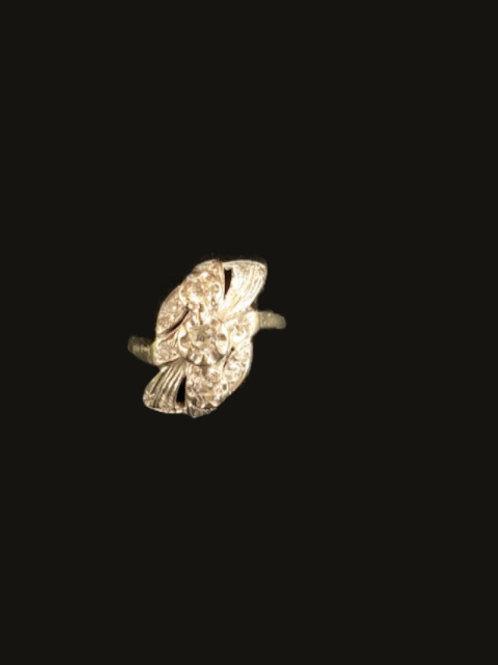 14KT antique 15 Diamond Ring