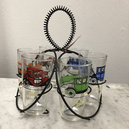 Set of 6 Hazelatlas Auto Glasses with carrier