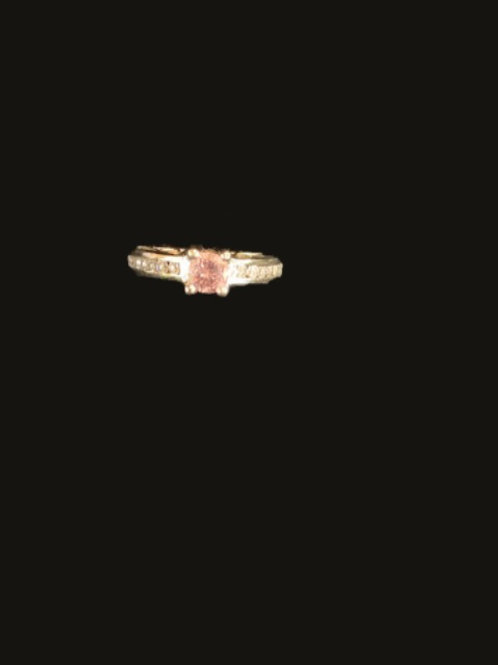 """""""Pink""""Diamond .30 Ct + 24 Diamond"""