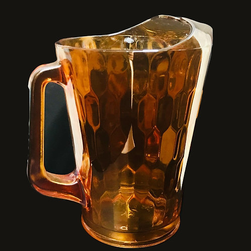 Jeanette Glass Honeycomb Optic Pitcher