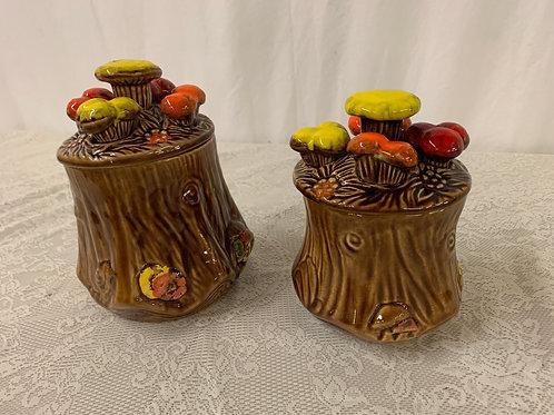 Mushroom Jars (sold as pair)