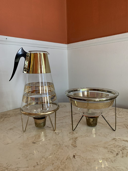 Pyrex Coffee / Tea Urn with Warming Stand.