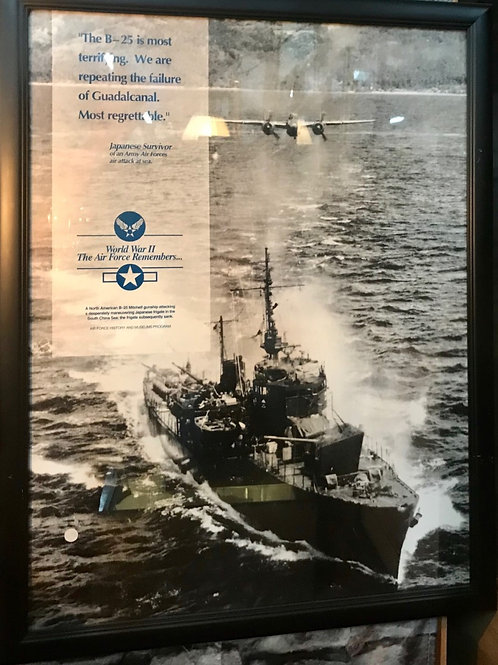 One of a kind original framed museum poster of WW II Aircraft USA