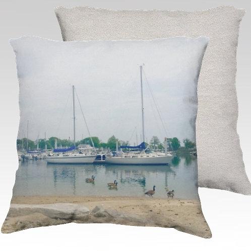 Compo Boats Velvet Pillow
