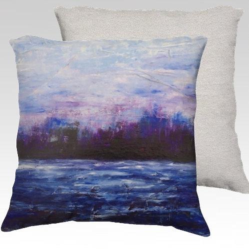 Purple Landscape - velvet pillow