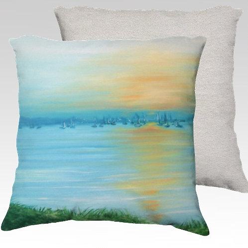 Saugatuck Dawn Velvet Pillow