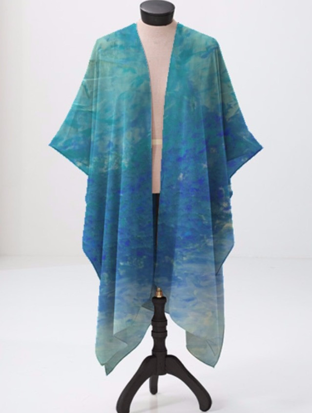 """Maui Blue"" Sheer Wrap"