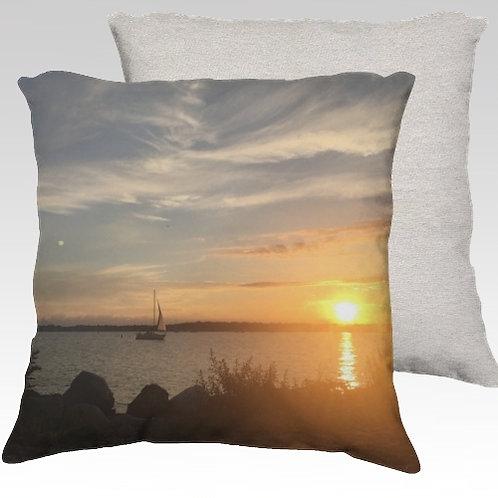 Compo Sunset Velvet Pillow