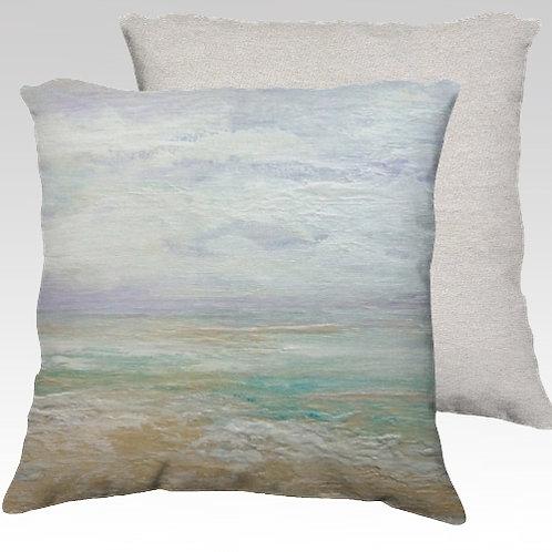 Beach Day Velvet Pillow