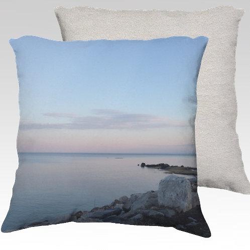 Compo Beach Silence Velvet Pillow