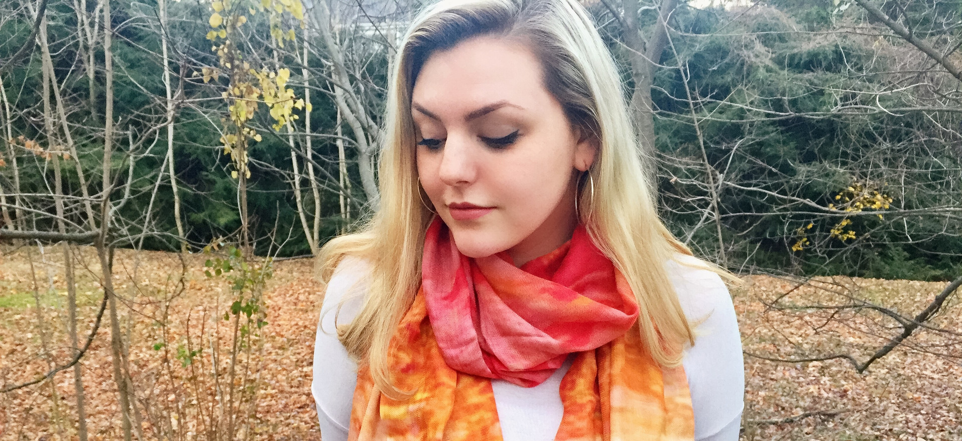 Each scarf has the softest cotton depicting one of Elizabeth's paintings.