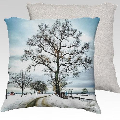 Compo Winterscape Velvet Pillow