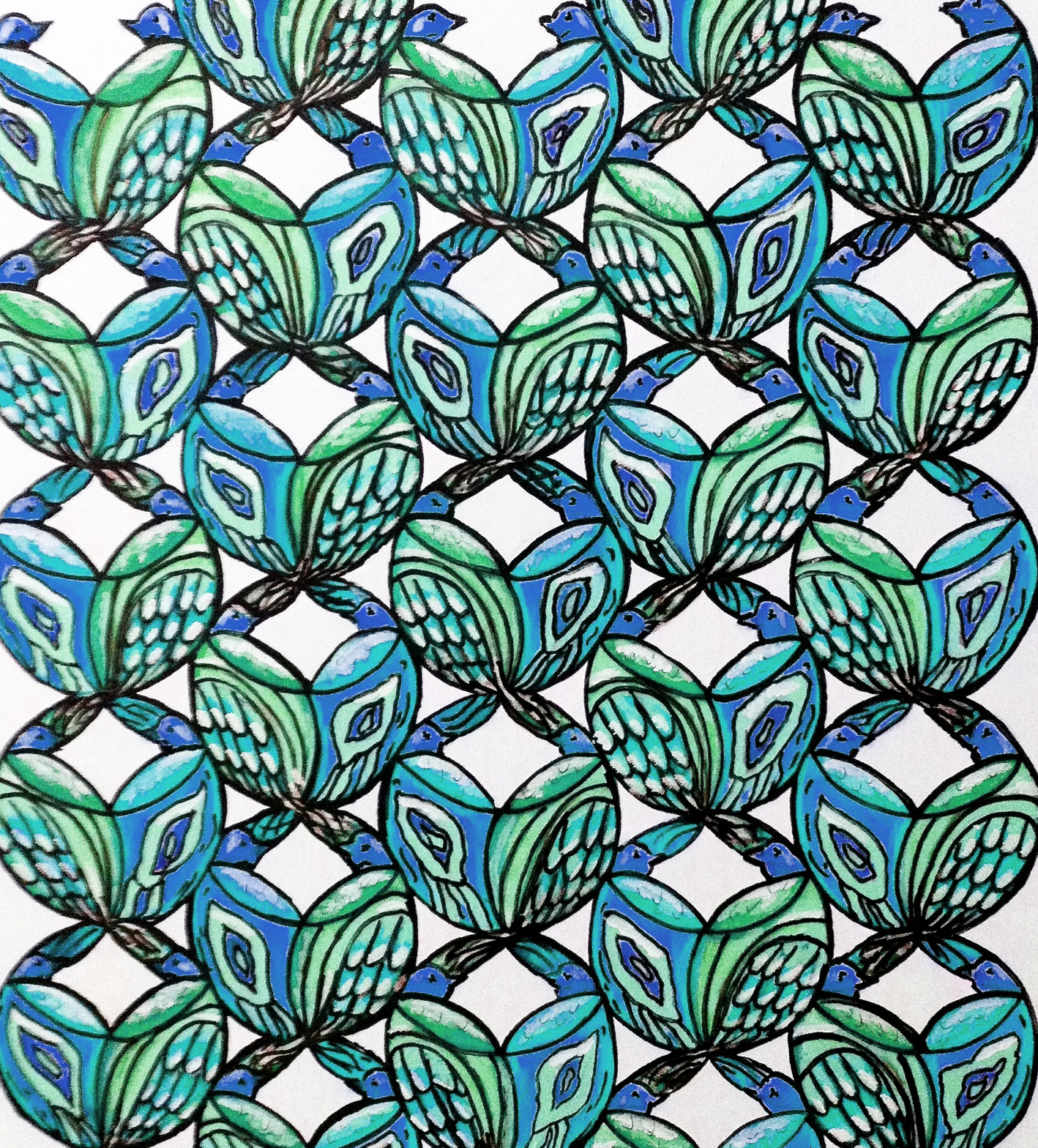 Blue Birds Fabric