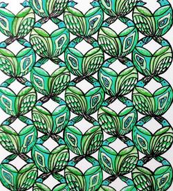Aqua Birds Fabric