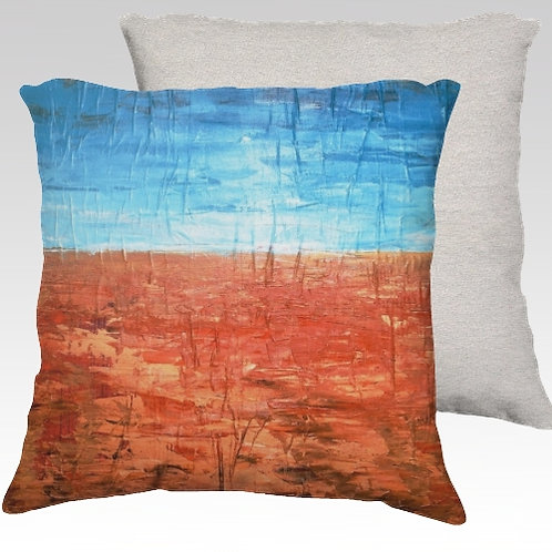 Orange Rise Velvet Pillow