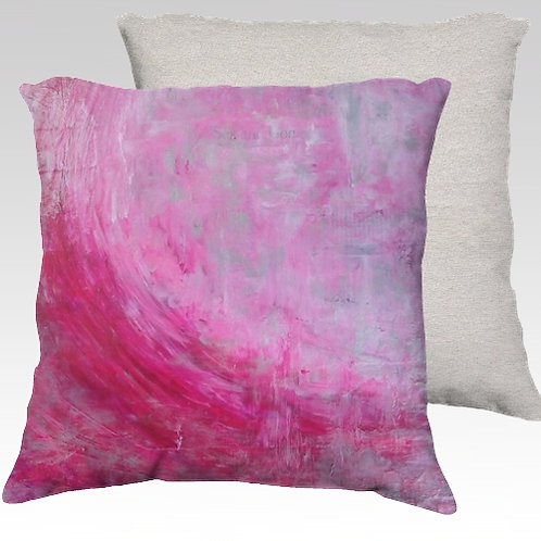 Pink Wave Velvet Pillow