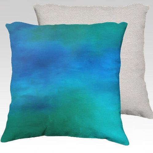 Moving Water Velvet Pillow
