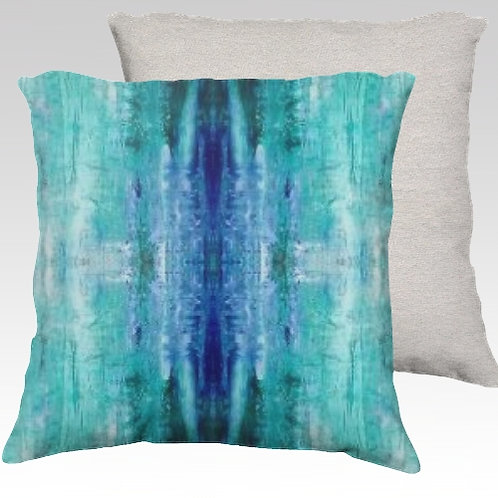 Aqua Ice Velvet Pillow