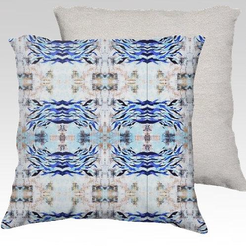 Blue Waves Velvet Pillow