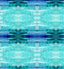 Fabric design - Turquoise Ice