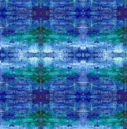 Fabric design - Blue Landscape