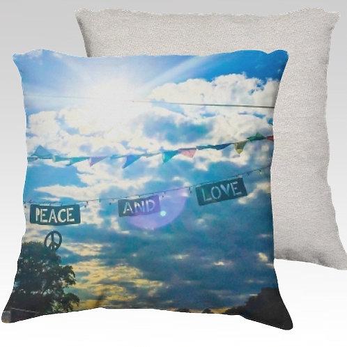 Peace & Love Velvet Pillow