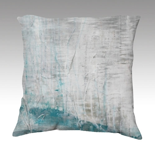Silver Ice Velvet Pillow