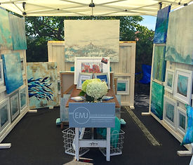 EMJ booth at the 2015 Westport Fine Art Festival
